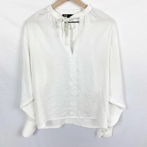 Maje Loiso Blouse with Neck Tie Detail